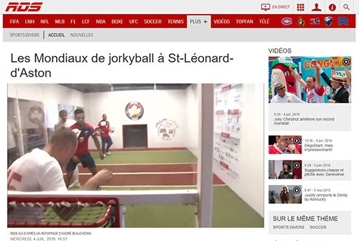La Coppa del Mondo di Jorkyball 2018 in TV