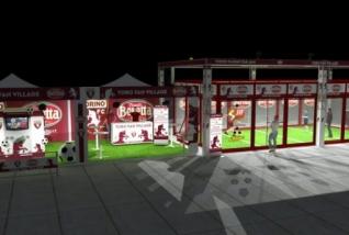 A Jorkyball court for Torino Football Club